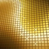 Abstract glittering golden mosaic background.