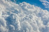 Dense clouds seen from above