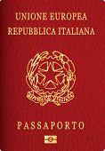 vector Italian passport cover