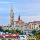 View With Matthias Church In Budapest, Hungary