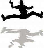 Man Jumping In Water Silhouette