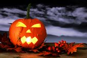 Spooky Halloween Jack o Lantern