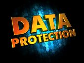 Data Protection - on Digital Background.