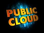 Public Cloud Concept on Digital Background.