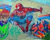 Street art Montreal Spiderman