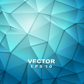 Tech geometry blue background. Vector design template