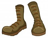 Illustration of a pair of boots on a white background