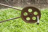 picture of pulley  - the pulley for pulling the flag on the pole - JPG