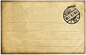 Postcard Background With Post Stamp