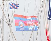 Harlingen, Holland - May 7Th: The Flag Of The Tall Ships Races 2014 In Harlingen, May 5, 2014 In Har
