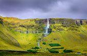 Waterfall in northwestern Iceland