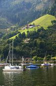 Boats on Zeller Lake, Zell am See, Austria, Europe