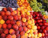 Fruits at a farmers market.