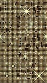 Gold seamless shimmer background with shiny golden and black paillettes