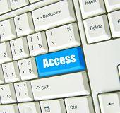 Keyboard blue key Access