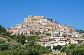 Panoramic view of Rocca Imperiale. Calabria. Italy. poster