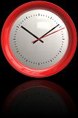 Red Bezeled Clock
