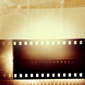 Film negative frames, film strips