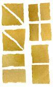 Set Of Torn Paper