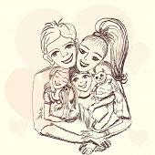 Cheerful Family.