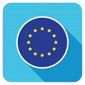a european flat flag icon