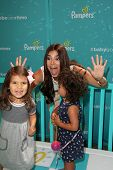 LOS ANGELES - SEP 9:  Roselyn Sanchez, Sebella Rose Winter at the Pampers Event at The Grove on September 9, 2014 in Los Angeles, CA