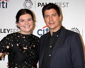 LOS ANGELES - SEP 10:  Casey Wilson, Ken Marino at the Paley Center For Media's PaleyFest 2014 Fall