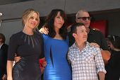 LOS ANGELES - SEP 9:  Christina Applegate, Katey Sagal, David Faustino, Ed O'Neill at the Katey Sagal Hollywood Walk of Fame Star Ceremony at Hollywood Blvd. on September 9, 2014 in Los Angeles, CA