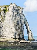 Cape With Arch On Beach Of etretat