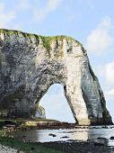 Arch Cliff On English Channel Beach Of etretat