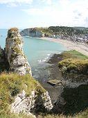 Coastline Of English Channel Beach In etretat