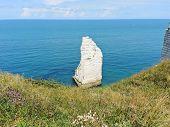 English Channel Near Beach Of etretat