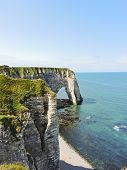 View Of English Channel Coast With Cliffs