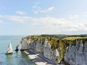 View Of English Channel Coastline Of etretat