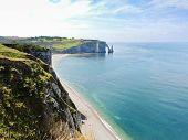 Cape On Cote D'albatre Of English Channel Coast