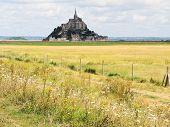 Rural Landscape With Mont Saint-michel Abbey
