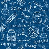 Scientific Experiments Seamless Pattern