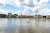 Canoe On The Loire In Saumur, Maine-et-loire Department (france)