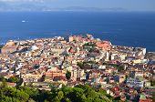 Picturesque summer panorama of Naples, Campania region in Italy