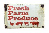 A Fresh Farm Produce Sign
