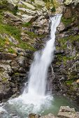 Waterfall In The Valley Of Nuria