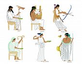 foto of artemis  - A set of 6 different classical greek gods and goddesses illustrations - JPG
