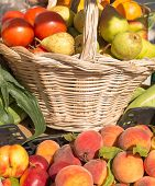 Refreshing image with fruits in baskets
