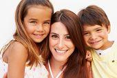 Portrait Of Hispanic Mother With Children