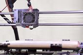 Detail Of The 3D Printer