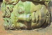 Medusa Column Bases In Basilica Cistern, Istanbul, Turkey