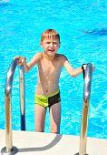 Wet Boy In Pool