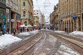 Zagreb Ilica in the snow