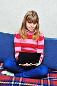 Teen Girl With Notebook