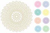 Filigree Lace Doilies, 9 Pastel Colors